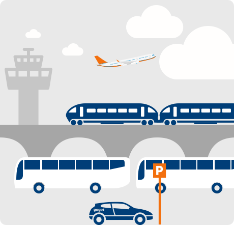 GoGet near airports and transport hubs - icon