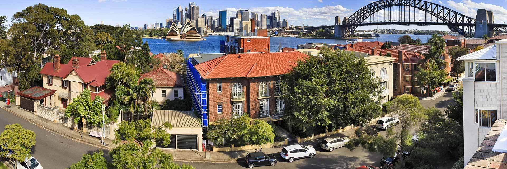 A GoGet suburb overlooking Sydney Harbour