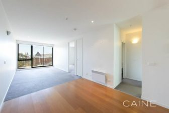 The empty living room of a $500 rental property in Collingwood, Melbourne
