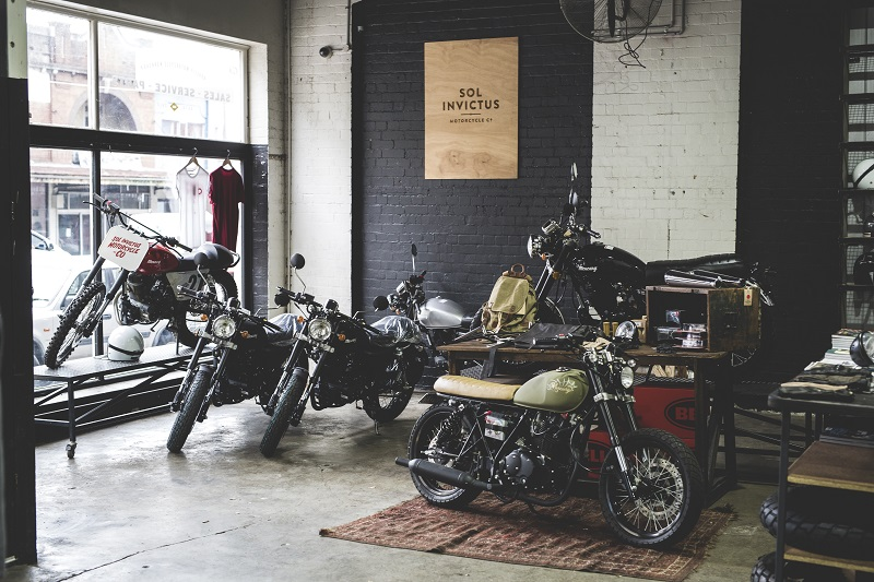 The inside of the Sol Invictus workshop and store on Parramatta road in Camperdown