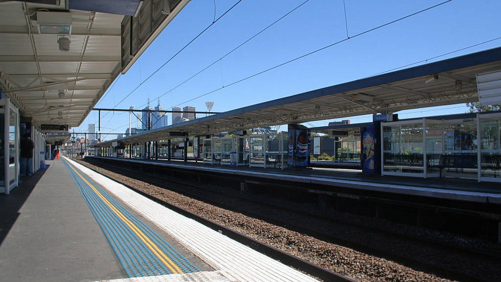 The train station in Richmond, looking back towards Melbourne CBD - Where to parking in Richmond can be avoided when catching the train