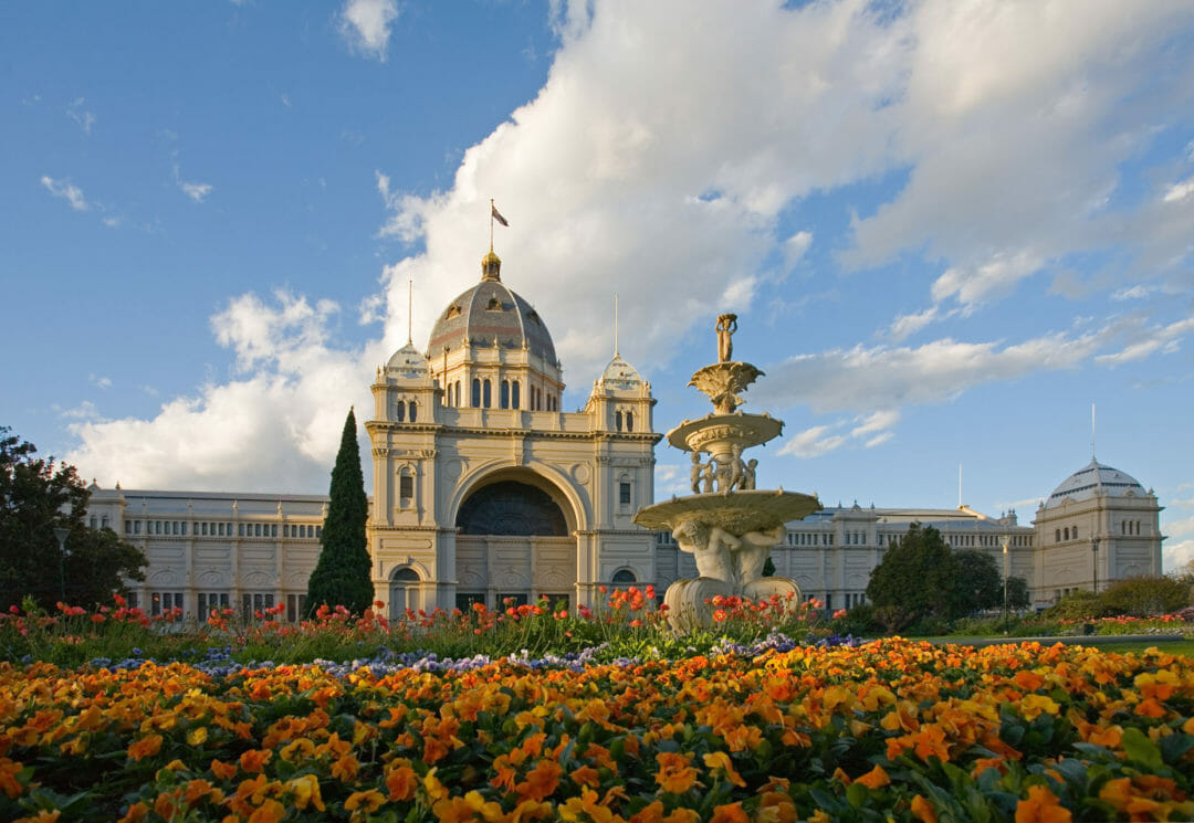 The outside of the Royal Exhibition Building Carlton - parking here is hard but worth the effort to see the sights