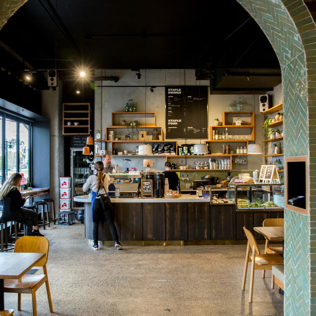 The counter of Staples, on of Melbourne's best cafes based on a poll of GoGet members