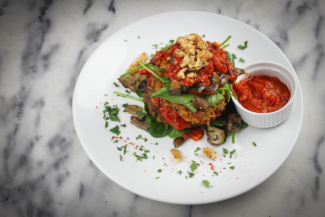 Vegan meal available at Badd Manors cafe