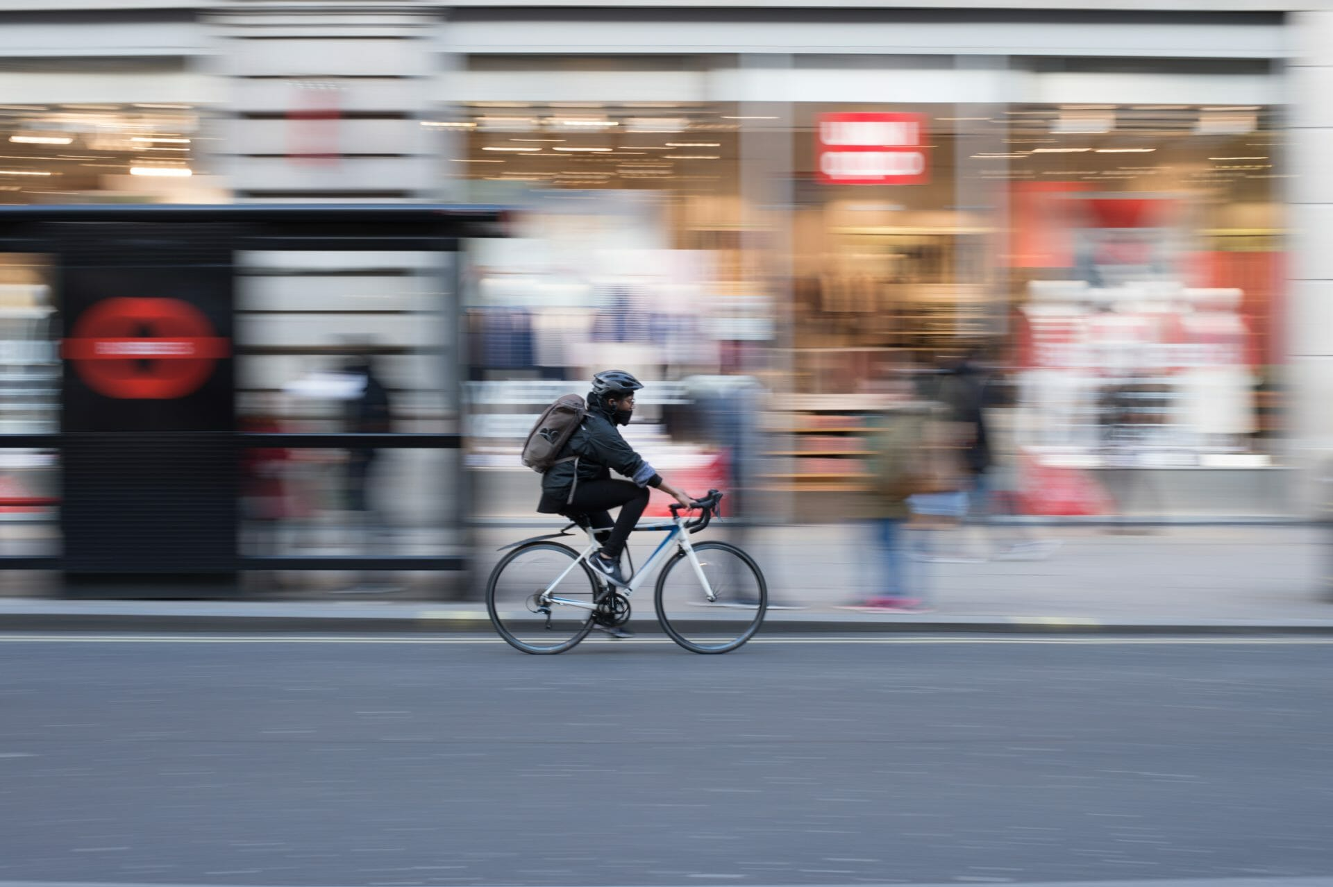 ride a bike in the city