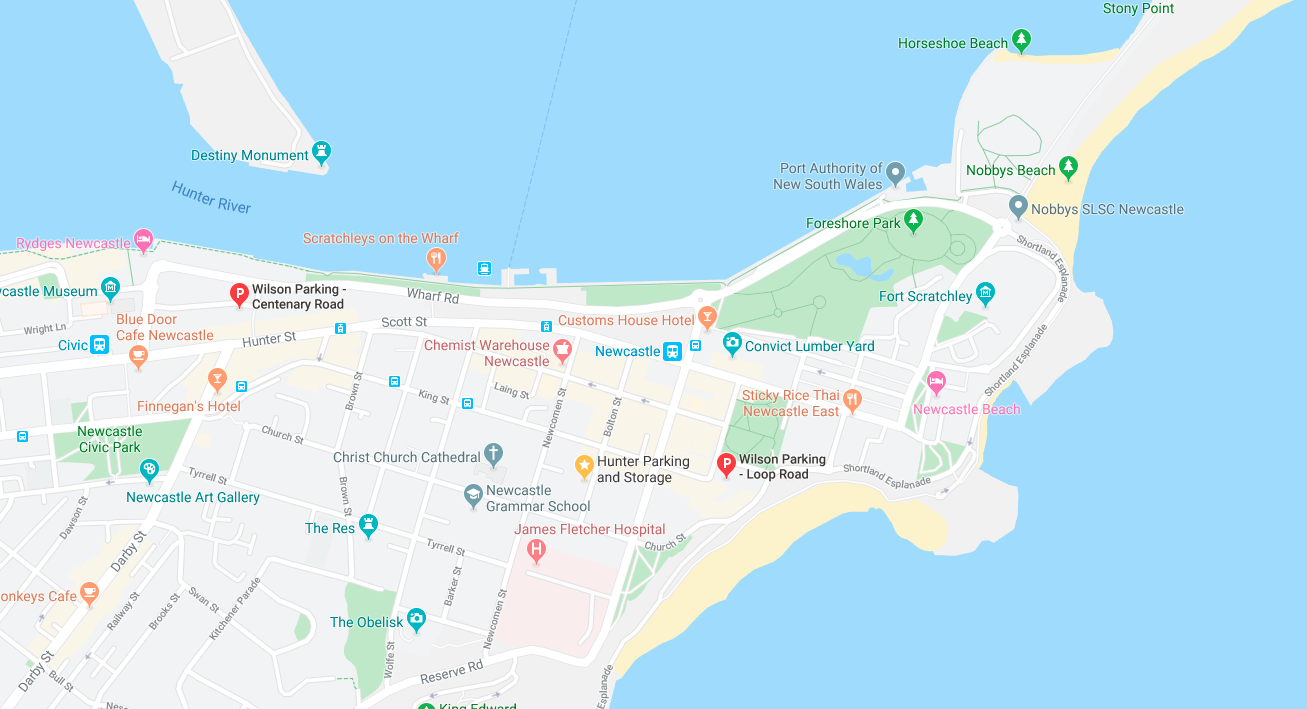 where to park in newcastle