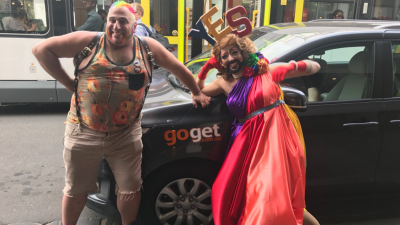 Melbourne car share from GoGet celebrates the Yes vote with Joy 94.9