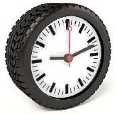 Tyre clock small