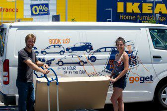 DIY delivery at IKEA with GoGet